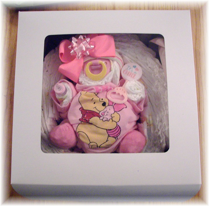 "Diaper Cake ""Baby In A Cake"" In A Box!"