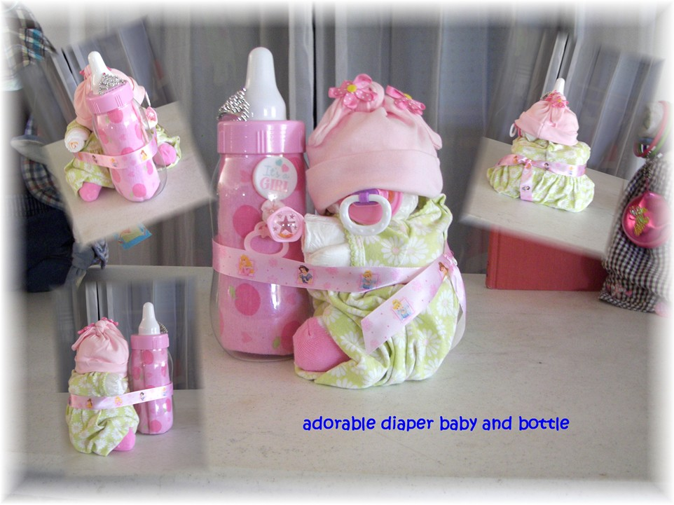 "Diaper Cake ""Diaper Baby & Bottle Bank"""