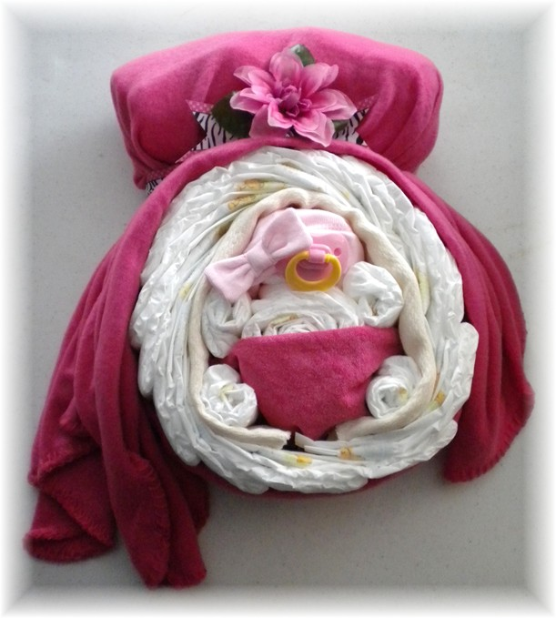 "Diaper Cake ""Momma & Baby Belly"" Girl!"