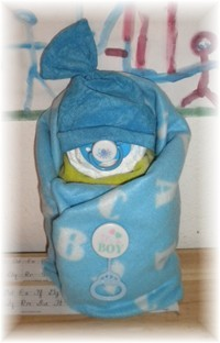 "Diaper Cake ""Swaddle Me"" Baby Boy"