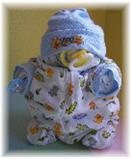 "Diaper Cake ""Diaper Baby Boy"" Cake Alternative"